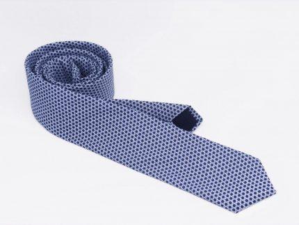 Noktalı mavi Kravat