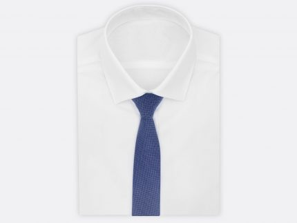 Dokulu Koyu Mavi Kravat