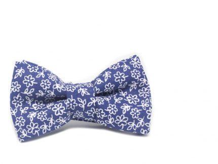 Çiçekli Mavi Çocuk Papyonu Baba Çocuk Papyon Kravat