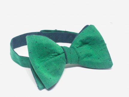 Puantiyeli Yeşil Papyon