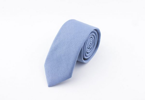 Buz Mavisi Yün Kravat