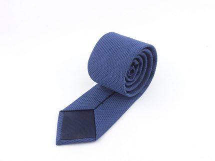 Lacivert Noktalı Mavi Kravat