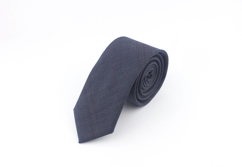 Bordo Çizgili Mavi Kravat