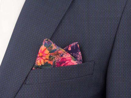 Çiçek Desenli Renkli Mendil