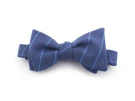 Çizgili Mavi Papyon