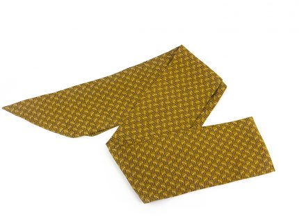 Hardal Fular - Desenli Sarı Saç Bandı